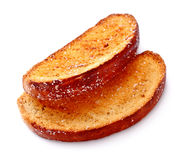 Rusk in Sugar Side Royalty Free Stock Photography