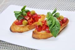 Rusk with tomato Stock Photos