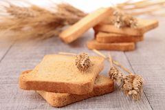 Rusk and wheat Stock Photography