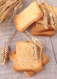 Rusk and wheat Royalty Free Stock Photography