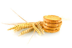 Rusk with wheat ear Royalty Free Stock Photography
