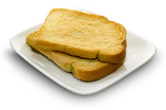 Rusk on  a white dish Royalty Free Stock Image
