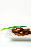 Rusk With Spring Onion. Royalty Free Stock Images