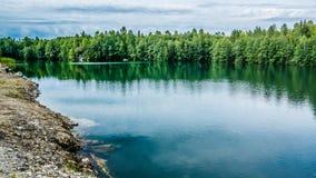 Ruskeala. Blue lake in the Karelia Stock Photo