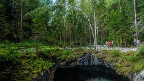 Ruskeala. Marble canyon in the Karelia Royalty Free Stock Photo