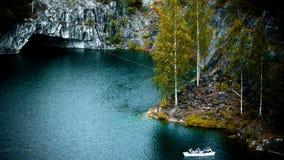 Ruskeala. Marble canyon in the Karelia Stock Photo