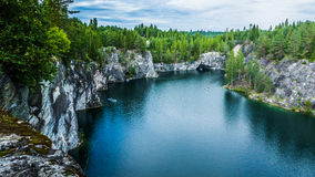 Ruskeala. Marble canyon in the Karelia royalty free stock photography