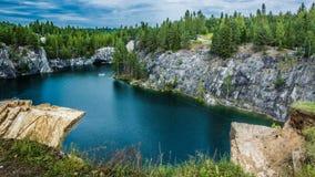 Ruskeala. Marble canyon in the Karelia Stock Photography