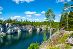 Ruskeala marble quarry, Karelia, Russia Royalty Free Stock Images