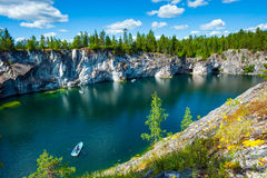 Ruskeala marble quarry, Karelia, Russia Royalty Free Stock Photography