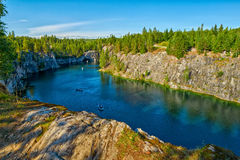 Ruskeala National Park, Marble Canyon, Russia Royalty Free Stock Image