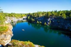 Ruskeala's marble canyon Stock Image