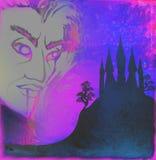 Ruskig illustration för allhelgonaafton med en spöke Royaltyfri Foto
