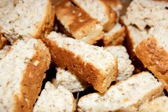 Rusks background Stock Photography