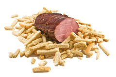 Rusks and bacon Royalty Free Stock Photos