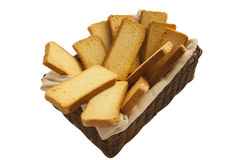 Rusks in a basket Stock Images