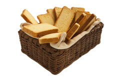 Rusks in a basket Royalty Free Stock Photo