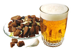 Rusks and beer Royalty Free Stock Photography