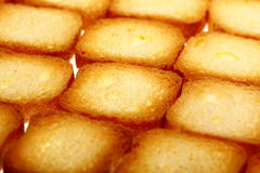 Rusks bread toast biscuits, diet food background Royalty Free Stock Photography