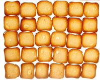 Rusks bread toast biscuits, diet food background Royalty Free Stock Images