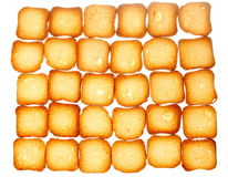 Rusks bread toast biscuits, diet food background Stock Photo
