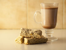 Rusks and Hot Chocolate. Healthy rusks with a cup of hot chocolate Stock Images