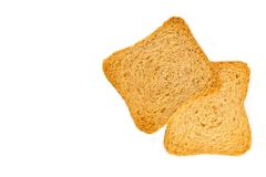 Rusks isolated with space for text Royalty Free Stock Photography