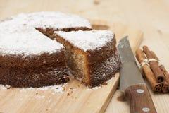 Rusks pie with cinnamon Stock Photo