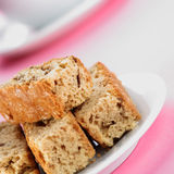 Rusks on plate stock images