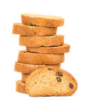 Rusks with raisins Stock Images