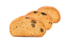 Rusks with raisins Royalty Free Stock Photos
