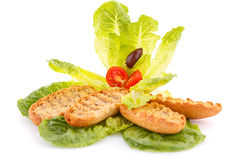 Rusks with vegetables Stock Photo