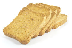 Rusks on white Royalty Free Stock Images