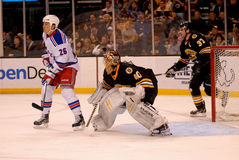 Ruslan Fedotenko and Tuukka Rask (NHL) Stock Image