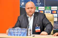 Ruslan Marmazov Press Officer of Shakhtar team Royalty Free Stock Photo
