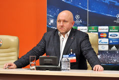 Ruslan Marmazov Press Officer of Shakhtar team Stock Photo