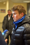 Ruslan Rotan FC Dnipro captain gives an interview Stock Images