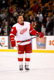 Ruslan Salei Detroit Red Wings Stockbild