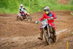 Ruslan Semenov Motopark Velyaminovo Royaltyfria Foton