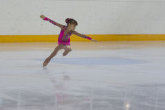 Ruslana Nemirova from Russia performs Silver Class III Girls Free Skating Program Stock Photography