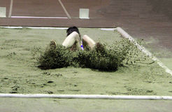 Ruslana Tsihotska compete in the triple jump Royalty Free Stock Images