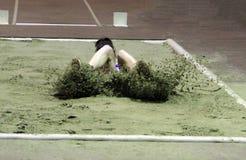 Ruslana Tsihotska compete in the triple jump Royalty Free Stock Images