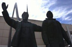 Rusland - Berezniki 2 Juni, 2017: het monument aan de arbeider royalty-vrije stock foto's