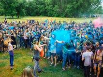 RUSLAND, Bryansk - Juli 1, 2018: Heilig Festival van Kleuren royalty-vrije stock afbeeldingen