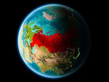 Rusland in de avond Stock Foto's