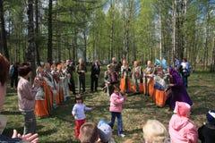 Rusland. De Dag van de overwinning, 9 Mei. Stock Foto's