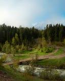 Rusland. De Kaukasus. Karachaevo-Cherkesia. Arhyz stock foto's