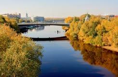 Rusland, de stad van Omsk in Westelijk Siberië Stock Foto