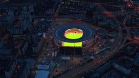 Rusland Ekaterinburg, Repin-straat, 5, het Stadion ?arena Yekaterinburg ?2019 04 07 stock video