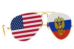 Rusland en de Verenigde Staten van Amerika Stock Afbeeldingen